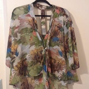 Unique Trippy Topshop blouse